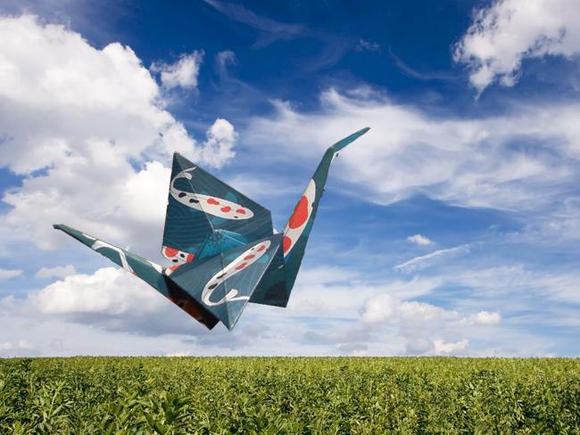 Unity crane by Mignon Khargie for Kizuna Cranes